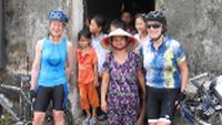 Cyclists & locals in Phat Diem |  <i>Adventure South</i>