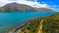 Cycling near Lake Ohau Lodge on the Alps 2 Ocean Cycle Trail |  <i>Daniel Thour</i>