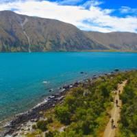 Cycling near Lake Ohau Lodge on the Alps 2 Ocean Cycle Trail | Daniel Thour