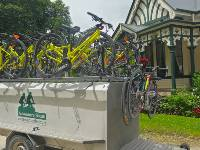 Our bikes parked up for the night at Burnside Homestead |  <i>Dan Thour</i>