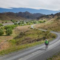 Cyclists enjoying the Awatere Valley, Molesworth High Country   Colin Monteath