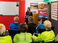 Pre-trip briefing at the Adventure South NZ depot |  <i>Lachlan Gardiner</i>
