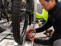 Securing our bikes to our custom bike trailers |  <i>Lachlan Gardiner</i>