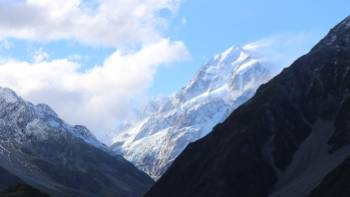 Aoraki/Mt Cook towers over the start point of the Alps to Ocean Cycle Trail. |  <i>Neil Bowman</i>