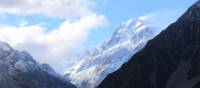 Aoraki/Mt Cook towers over the start point of the Alps to Ocean Cycle Trail. | Neil Bowman