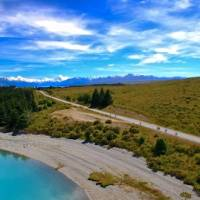 Enjoy spectacular views of Lake Pukaki & the Southern Alps on the Alps 2 Ocean Cycle Trail   Dan Thour
