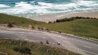 Road cyclists making their way around Papatowai Beach |  <i>Reiner Schuster</i>