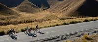 Cycling through the Lindis Valley on the Tour of New Zealand