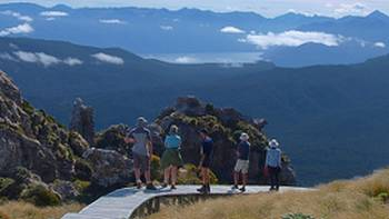 Views towards the Southern Alps on the Hump Ridge track