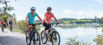 Cycling the easy trails next to the harbour |  <i>Ruth Lawton Photography</i>